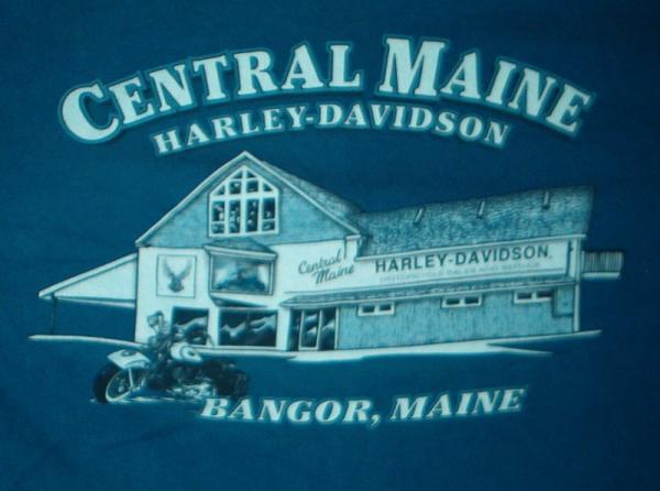 harley davidson - dealer t-shirt - central maine - bangor #82