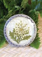 Pressed Flower Cabinet Knobs Drawer Pulls Fern Leaf Garden Cottage