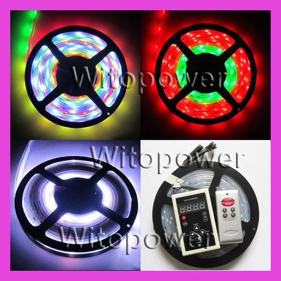 Dream Color RGB 5M 5050 Flash LED Strip Light + RF Controller Remote