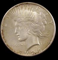 1925-S Peace Silver Dollar VF San Francisco Mint 72119