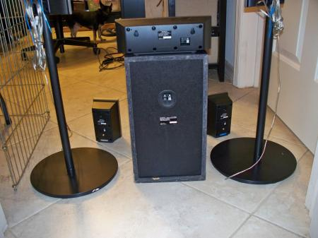 sony surround sound speaker system ss ts82 ss ct80 ss ts80. Black Bedroom Furniture Sets. Home Design Ideas
