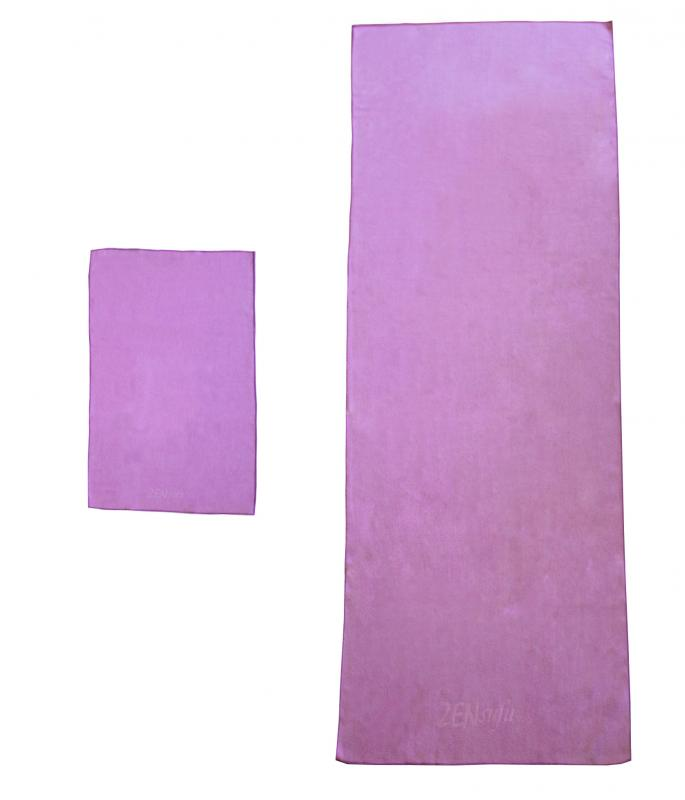 Fitlifestyleco Yoga Mat Towel Combo: Yoga Mat Towels Combo Prmium Microfiber Towels Set Purple