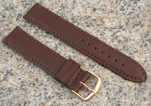 19mm brown longines genuine leather watch band nos strap made in usa item l12a ebay for Longines leather strap