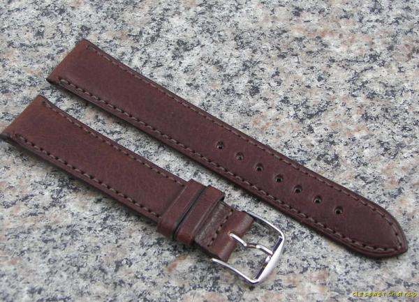 18mm brown longines genuine leather watch band nos strap made in usa item l6 ebay for Longines leather strap