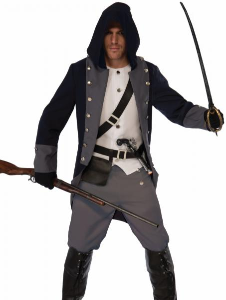 Silent Warrior Costume Mens Adult Ninja Assassins Creed Fast