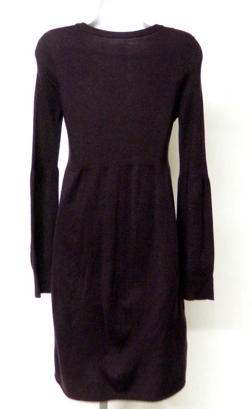 Jessica Howard Size M Purple Sweater Dress Black Faceted Jewels