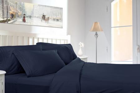 2 Pack Jessica Sanders 820 Deluxe Deep Pocket 4 Piece Bed