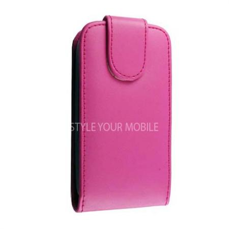 For Nokia Asha 200 201 Smooth Pink Flip Leather Case Cover | eBay