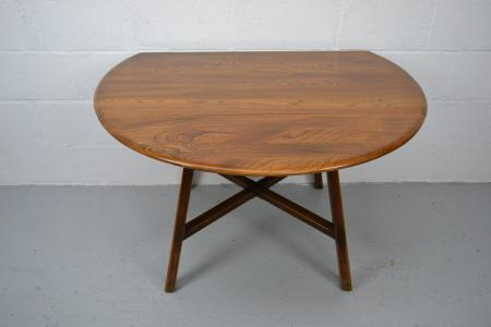 Vintage Retro Ercol Windsor Round Drop Leaf Kitchen Dining