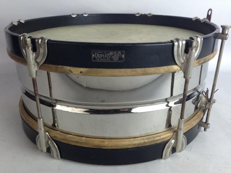 duplex leedy 14x5 nob brass snare drum wood hoops calf heads vintage 1900s ebay. Black Bedroom Furniture Sets. Home Design Ideas