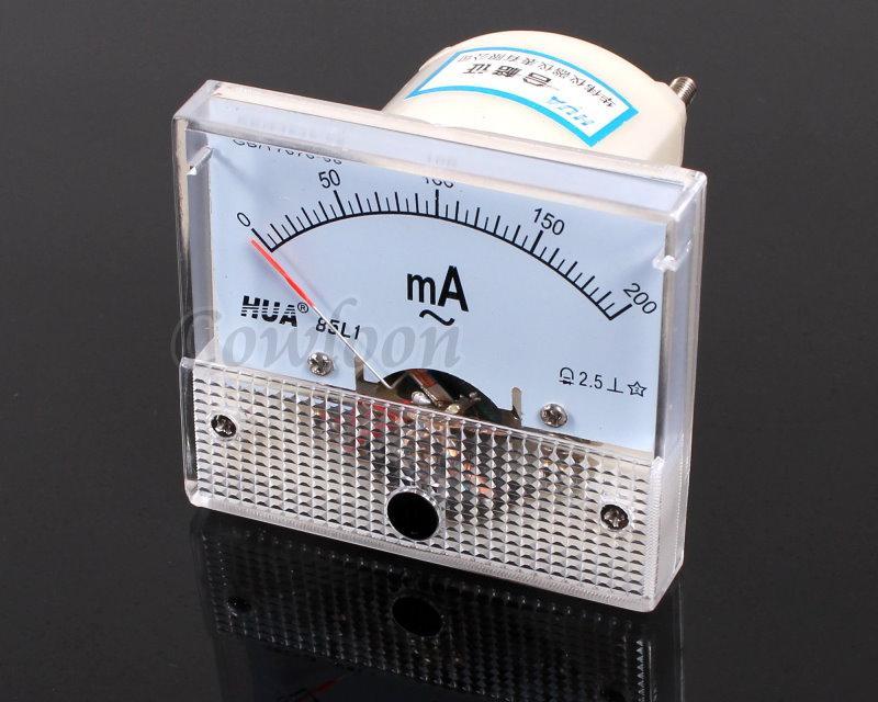Ac Ammeter Panel Meter : Ac ma analog amp meter current panel ammeter