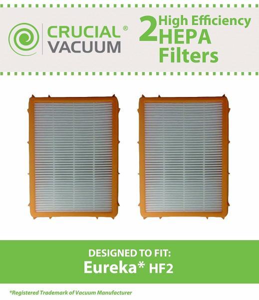 2 Replacements Eureka Hf 2 Hepa Filters Part 61111 61111a 61111b Hf2 Ebay