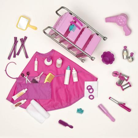 Play Set 30 Pcs Hair Salon For Doll 18 Quot Our Generation