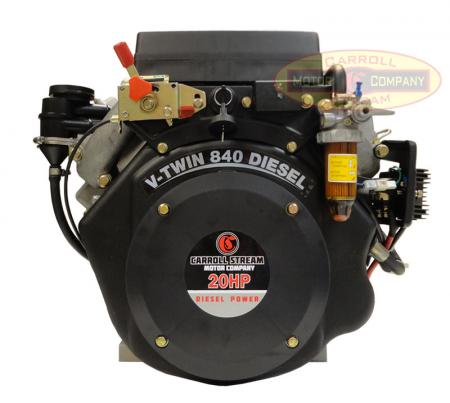 New 20hp V Twin Small Diesel Engine Electric Start 1 1 8