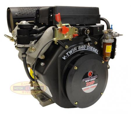 new 20hp v twin small diesel engine electric start 1 1 8 straight shaft motor ebay. Black Bedroom Furniture Sets. Home Design Ideas
