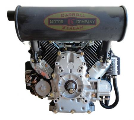 New 20hp v twin gas engine 614cc electric start 1 side for Mud motor electric clutch