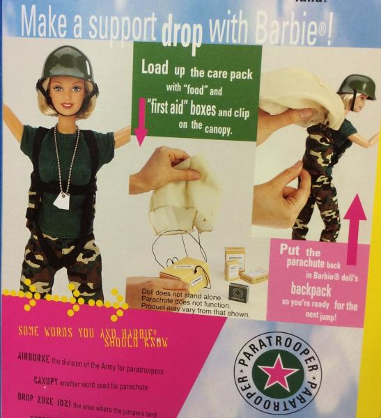 "NRFB Barbie Doll ""PARATROOPER"" Bend & Move Body AAFES SE"