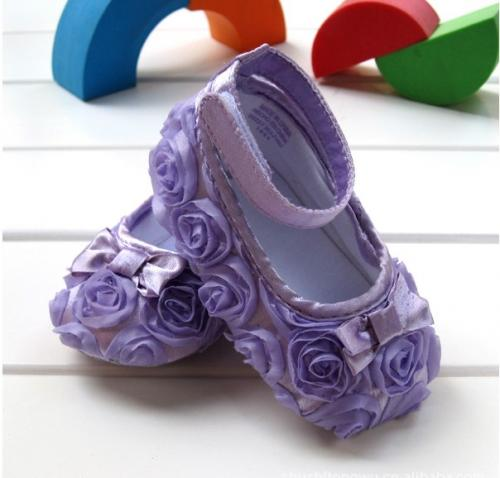 purple infant baby shoes toddler dress soft