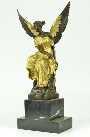 Bronze Amp Gold Patina Sculpture Athena Nike Winged Angel