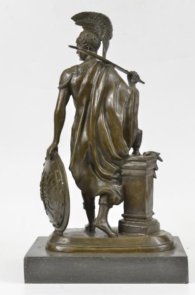 Ancient Greek Soldier Spartan Warrior Roman Legion Statue ...