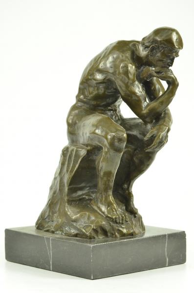Bronze Rodin Thinking Man Thinker Sitting Statue Sculpture ...