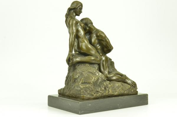 Rodin Eternal Idol Famous 100% Bronze Sculpture Statue