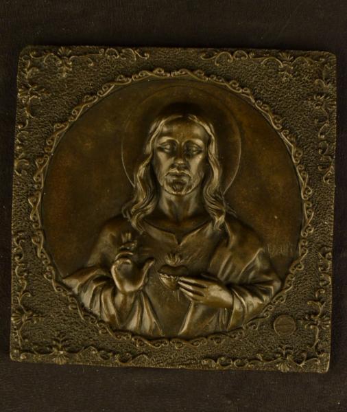 Christ Portrait Wall Mount Bas Relief Plaque Sculpture Art EBay