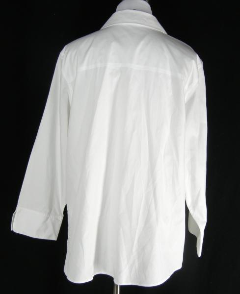 Foxcroft non iron shaped fit career shirt 16w 16 w crisp for Crisp white cotton shirt