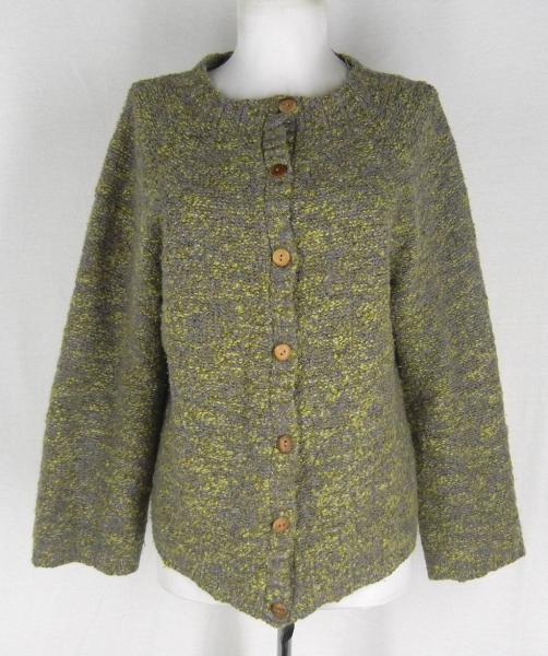Quill Knitting Pattern : QUILLS Irish Ireland Hand Knit Cardigan Wool Sweater M 8 10 Woollen Mark...