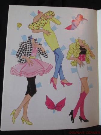 vintage golden book barbie in hat amp floral dress paper