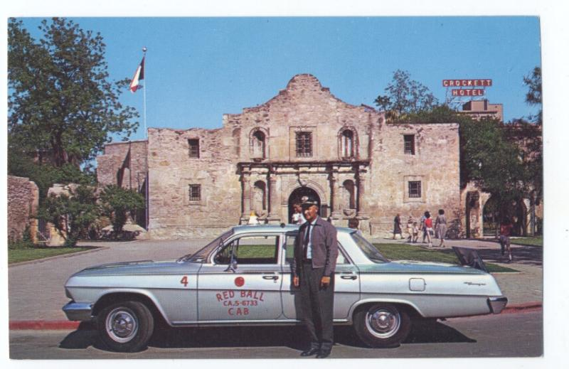 Taxi San Antonio >> Details About 1962 Chevrolet Biscayne Red Ball Taxi Cab At The Alamo San Antonio Tx Great