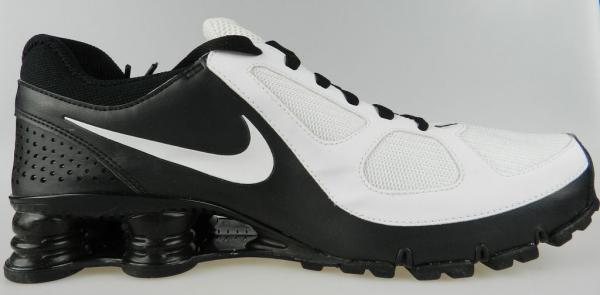 official photos 5a5e2 b316f NIKE SHOX TURBO 10+ NEW Mens White Black iPod Ready Running Shoes Size