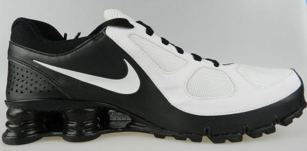 bf62fa82d60e63 NIKE SHOX TURBO 10+ NEW Mens White Black iPod Ready Running Shoes Size