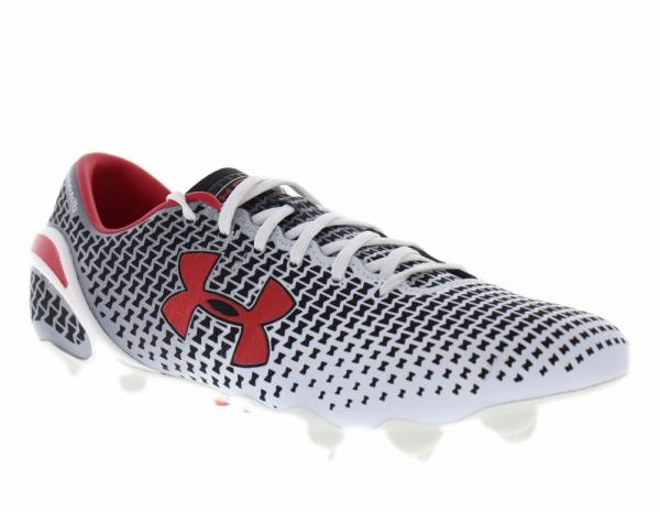 sports shoes b4c78 11052 Under Armour Men s Clutchfit Force FG White Black Red  174 Soccer Cleats  Boots