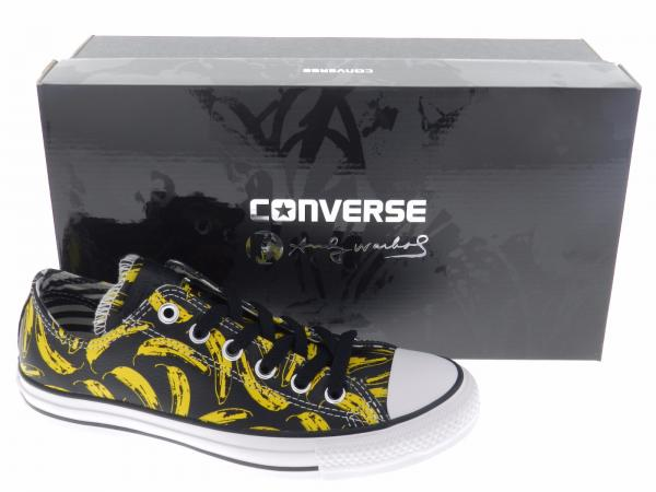d4135bb7c0a3 Converse Mens Chuck Taylor Andy Warhol Ox Banana Black Low Leather ...