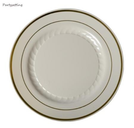 150 Dinner Plates China Look Masterpiece Style Wedding Disposable