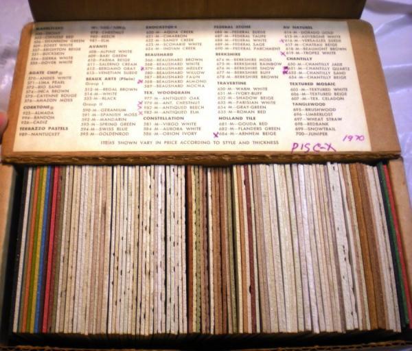 Kentile Floors Inc Vinyl Asbestos Tile Samples 1967 68