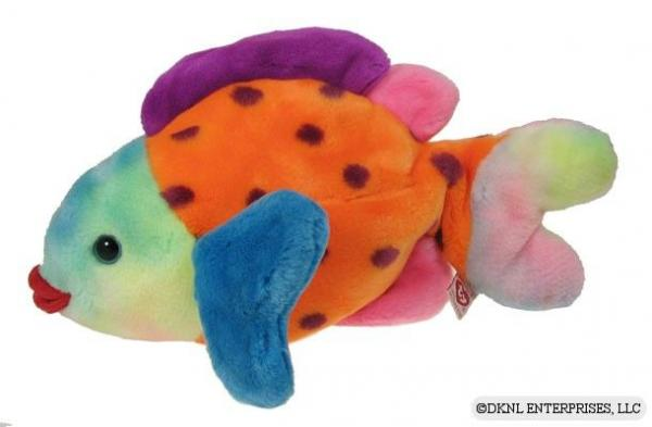 Ty lips beanie buddy 1999 multicolor fish w o tag ret ebay for Fish beanie baby