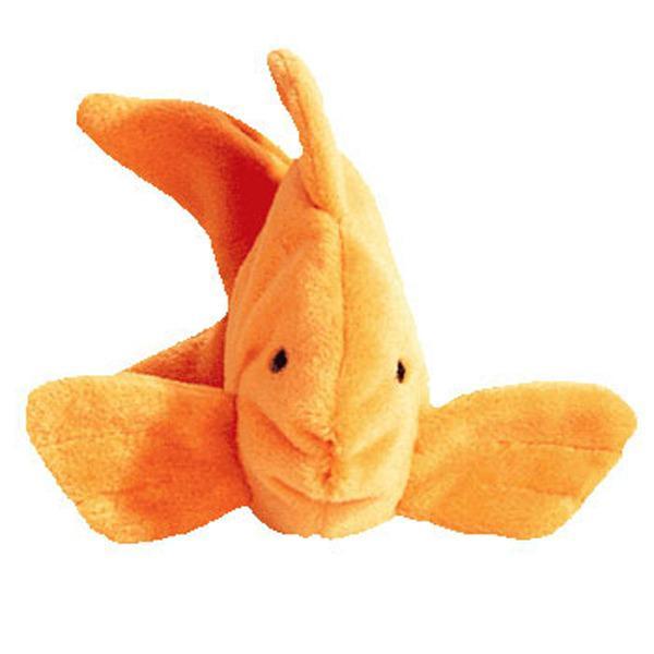 Ty goldie beanie baby fish mwmt 4th gen retired ebay for Fish beanie baby
