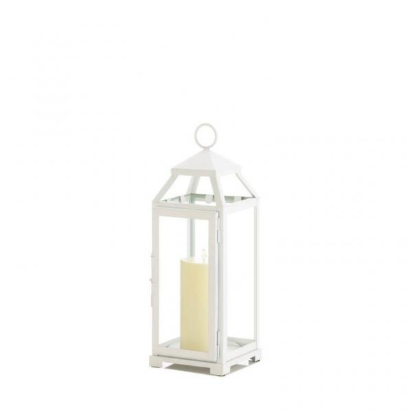 Cool Details About Lot Of 10 Medium Country White Candle Lanterns Wedding Centerpieces Download Free Architecture Designs Scobabritishbridgeorg