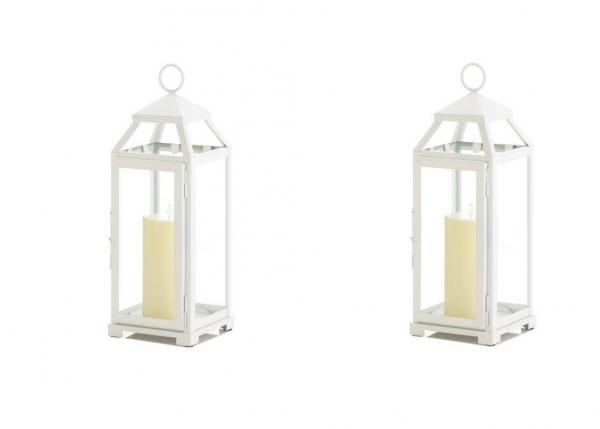 Pleasing Details About Set Of 2 Medium Country White Candle Lanterns Wedding Centerpieces Download Free Architecture Designs Scobabritishbridgeorg