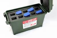Precut Military closed cell foam fits 30cal 30 cal caliber Ammo Can hold 10 mags