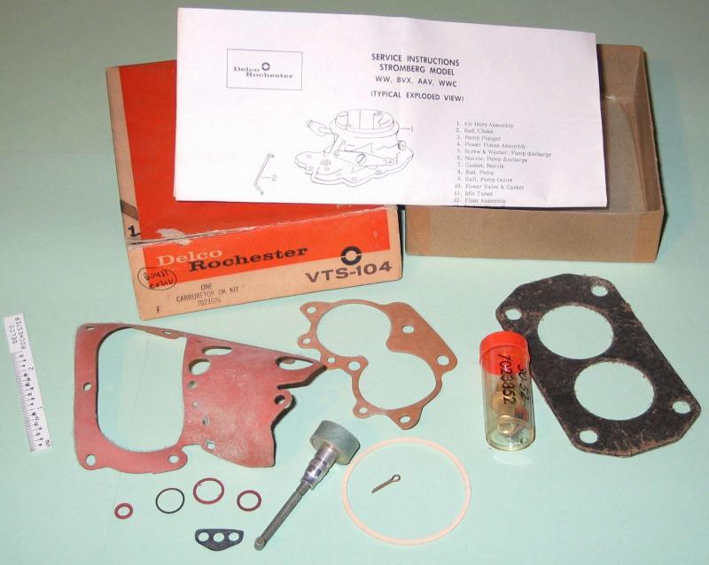 1957 - 1960 Buick Special LeSabre NOS Stromberg carburetor kit 7023524