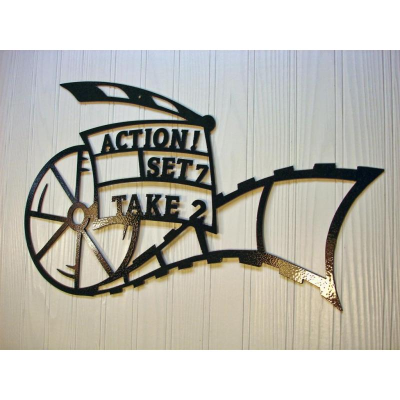 Home Theater Decor Metal Wall Art ~ Metal wall art home theater decor action movie reel