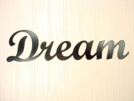 Metal Wall Art Home Decor Dream Word Art eBay