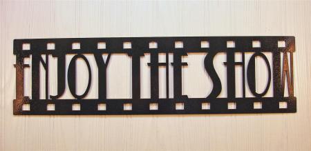 Metal Wall Art Home Theater Decor Enjoy The Show Film Ebay