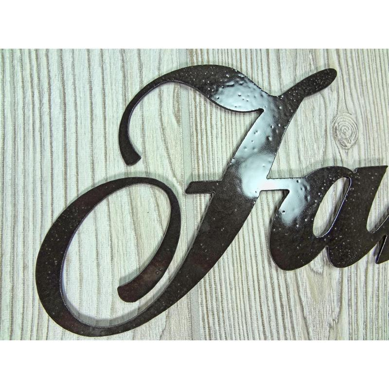Faith Family Friends Metal Wall Art Home Decor Words Letters