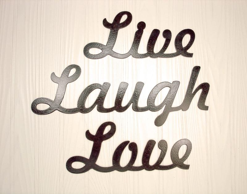 Live Laugh Love Metal Wall Decor Art Source Abuse Report
