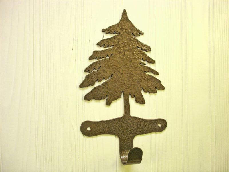 Pine Tree Hook for Robe, Towel, Coat, Metal Art Decor