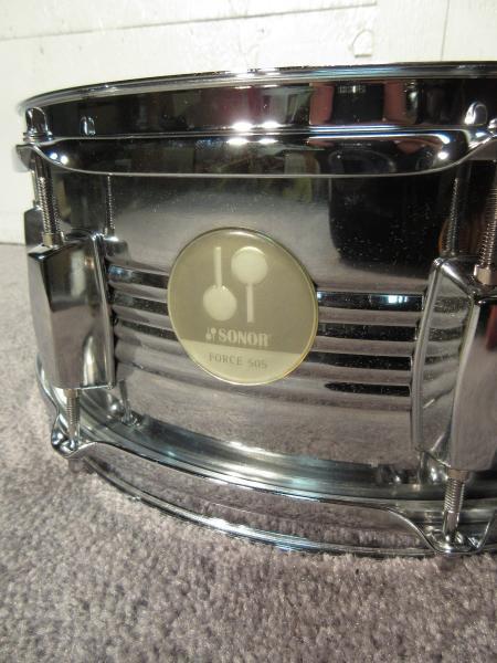 sonor force 505 metal snare drum 14 x 5 5 ebay. Black Bedroom Furniture Sets. Home Design Ideas